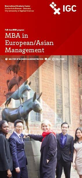 Best One Year Mba Programs In Asia by Hochschule Bremen International Graduate Center