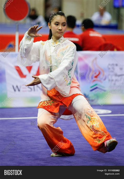 Lu Indonesia jakarta indonesia november 16 2015 lu yi chan of malaysia performs movements in the