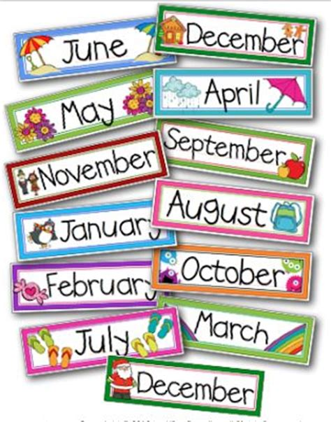 Calendar Headers Monthly Calendar Headers Classroom Management