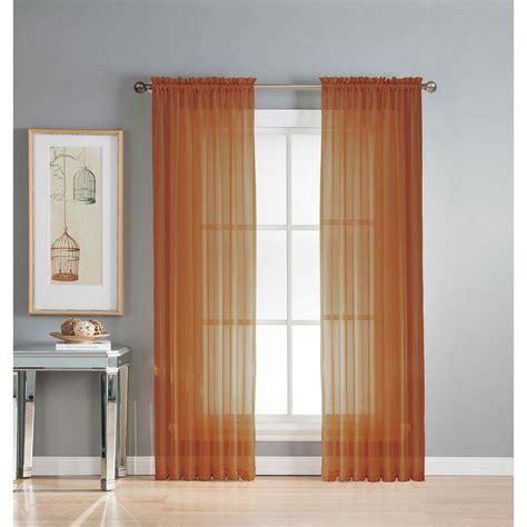 Orange Sheer Curtains Orange Yellow Sheer Curtains Curtain Menzilperde Net