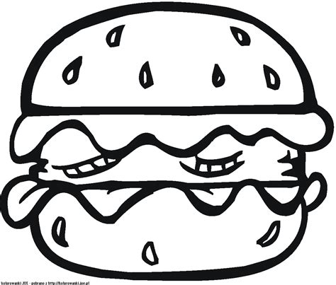 cheese burger coloring pages