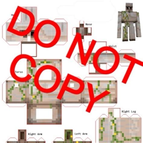 Minecraft Papercraft Iron Golem - free minecraft papercraft iron golem scrapbooking