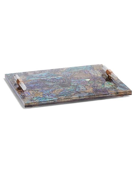home decor trays small decorative tray in abalone shell kendra scott