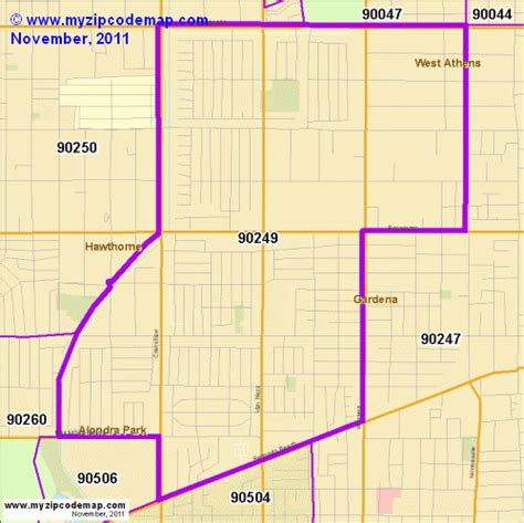 Gardena Ca Postal Code Zip Code Map Of 90249 Demographic Profile Residential