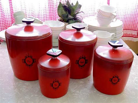 red ceramic canisters for the kitchen red glass canisters red ceramic kitchen canisters vintage