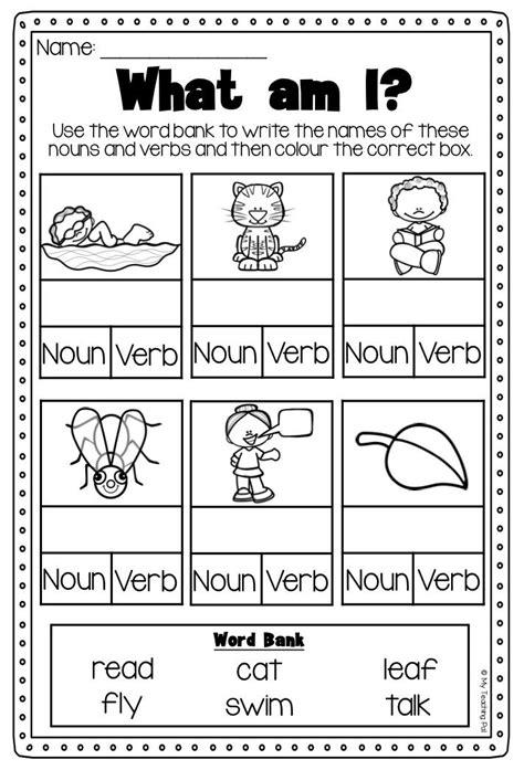 Verbs For Kindergarten Worksheets by Best 25 Nouns Kindergarten Ideas On Noun