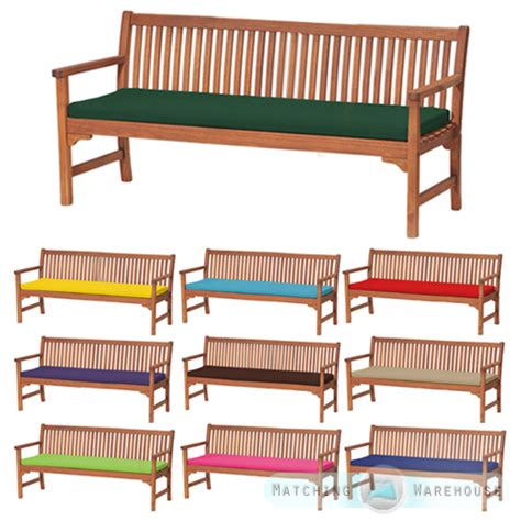 bench with cushion seat outdoor waterproof 4 seater bench swing seat cushion