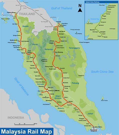 Ktm Malaysia Map Ktm The 620km East Coast Rail Route Ecrr