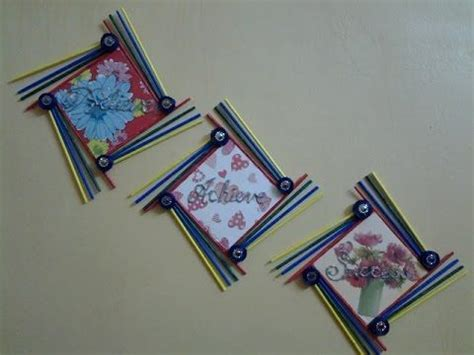 waste paper and craft best out of waste paper and foam board wall hanging with
