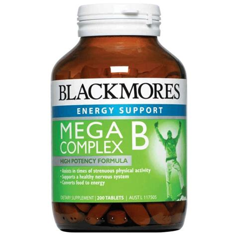 blackmores mega b complex 200 tablets my chemist
