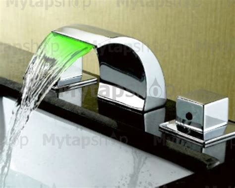 how to change bathroom sink taps contemporary color changing led waterfall widespread bathroom sink tap t6012 t6012