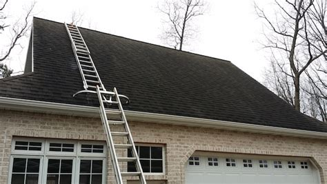 ladder on a roof the safest and most effective setup for cleaning steep