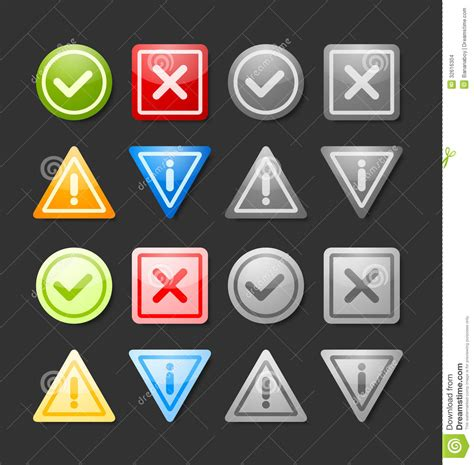 Handmade Web - notification icons stock images image 32616304