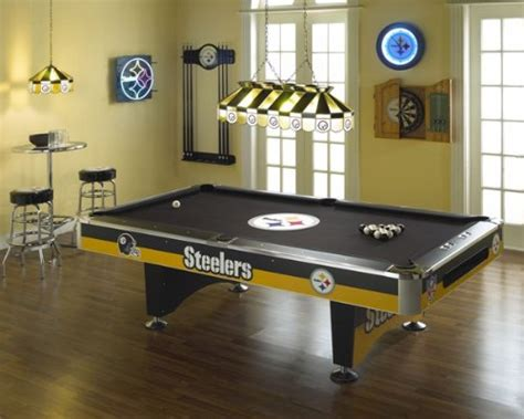 pittsburgh steelers pool table strictlymancave