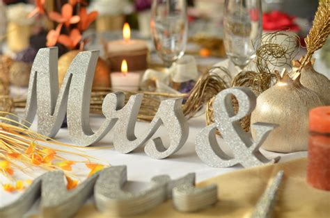 letters for table decorations glitter mr mrs letters wedding table decoration by sunfla