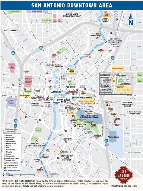 san antonio usa map san antonio downtown map