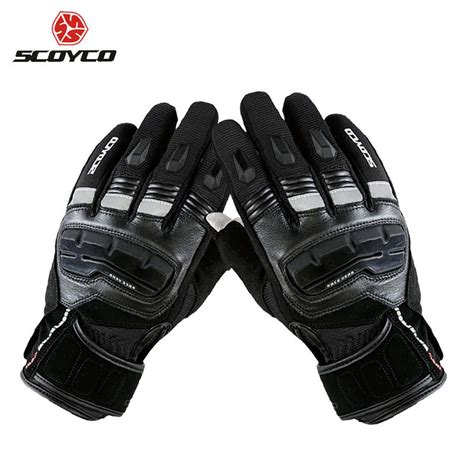 scoyco mcb waterproof siyah kislik motosiklet eldiveni