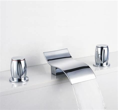 contemporary faucets bathroom contemporary waterfall bathroom sink faucet chrome finish