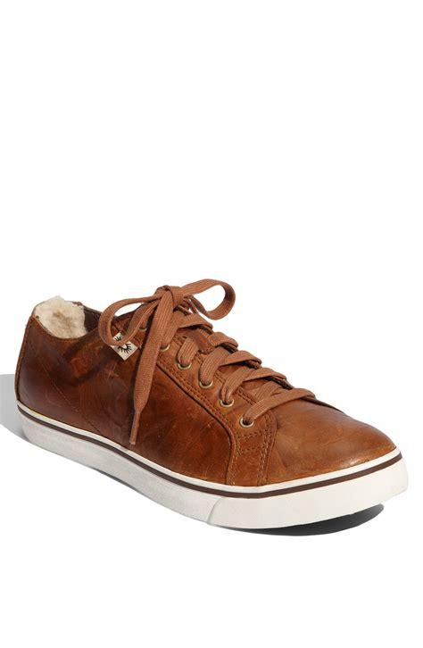 ugg shoes for ugg vanowen sneaker in brown for crouton lyst
