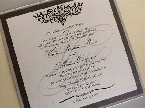 Wedding Invitations With Both Parents Names by Wedding Invitation Formal Attire Ideas Wedding