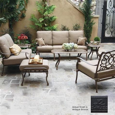 Shop Darlee Florence 7 Piece Aluminum Patio Conversation