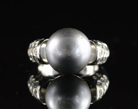 tahitian black pearl gold ring for sale at 1stdibs