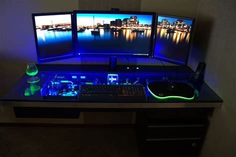 cool computer desk fresh best pc gaming desk setup 12973