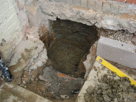 drainage project sump pit installation evesham