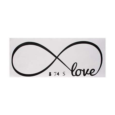 infinity with words infinity wall decal removable sticker symbol