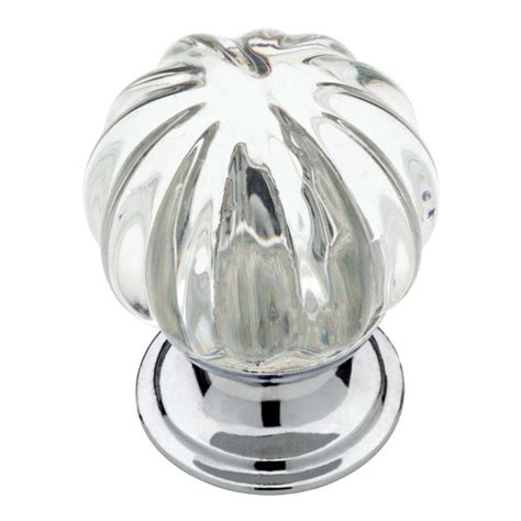 large glass cabinet knobs liberty 1 1 4 in chrome with clear fluted glass cabinet
