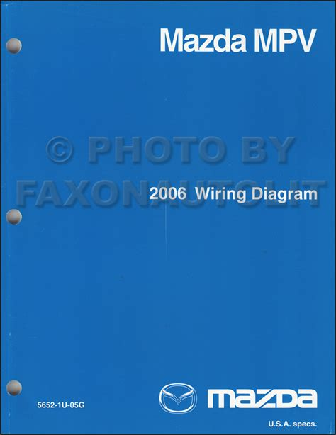 2006 mazda mpv wiring diagram manual original mpv