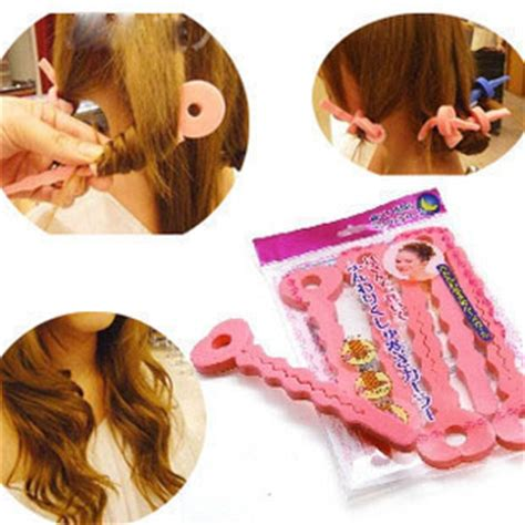 diy perms for women 6pcs pkt 2 in 1 sponge foam perm rods hair curlers rollers