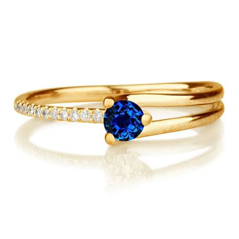 1 25 carat cut sapphire and engagement ring