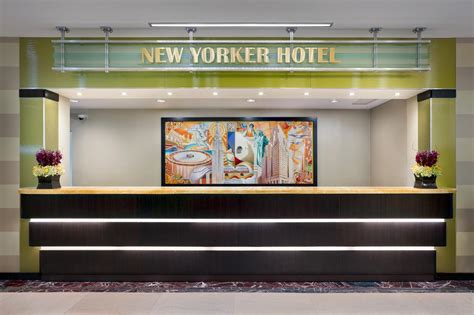 front desk from deco hotel new york the new yorker