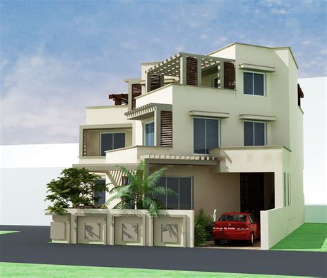 3d Front Elevation Com Pakistani Sweet Home Houses Floor Plan Layout