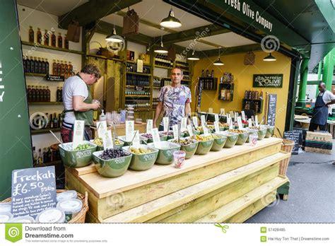 Shoo Olive olive shop at borough market editorial image