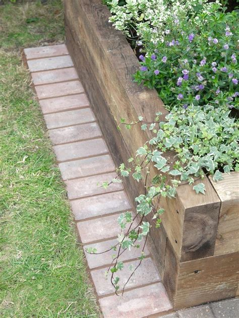 Landscape Edging You Can Mow Best 25 Wood Edging Ideas On Sleepers Garden