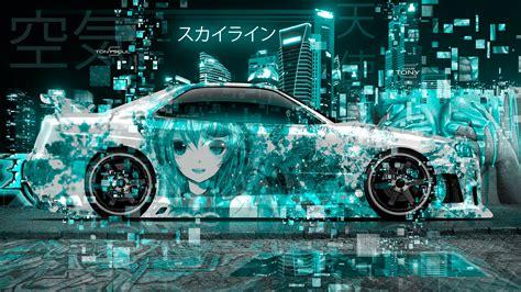 nissan skyline gtr  jdm side super anime girl air angel