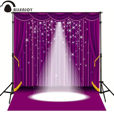 Allenjoy Photographic Background Purple Lighting Stage Light Backdrop For Sale