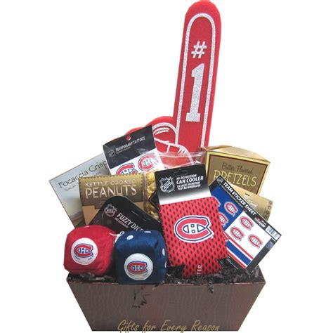 montreal canadiens gift basket nhl gift baskets gifts