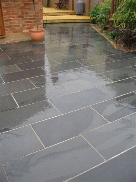 patio slate black slate paving patio garden slabs tiles ebay