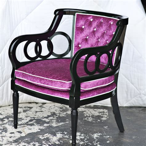Purple Tufted Chair by Purple Tufted Arm Chair Ebay