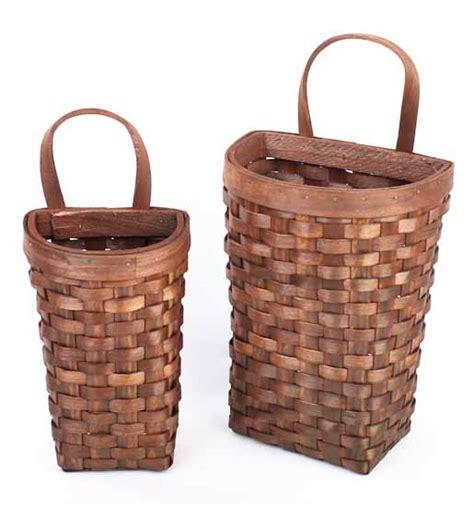 basket home decor primitive natural woven wall baskets baskets buckets