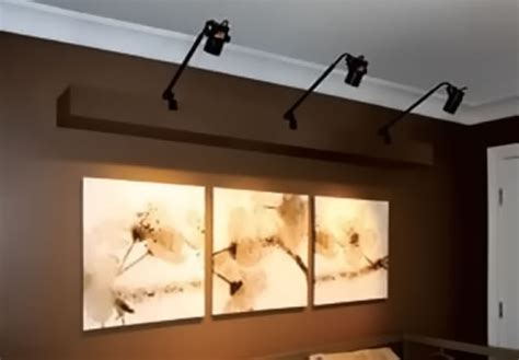 how to light artwork on a wall wall mounted track lighting distinctive style lighting