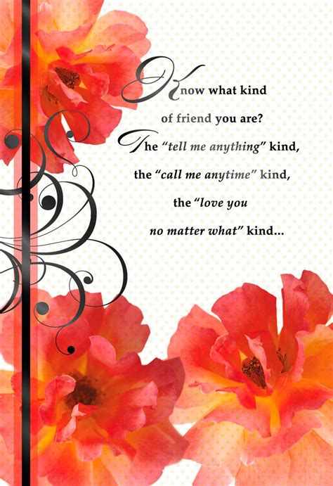 flowers and ribbon s day card for friend greeting cards hallmark
