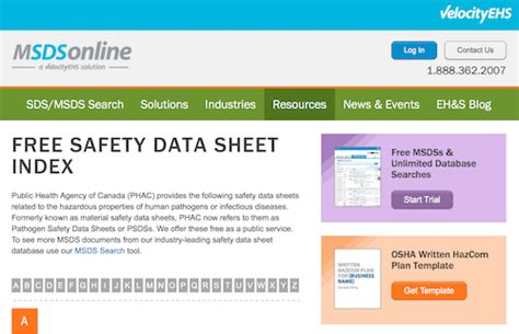 Safety Data Sheets 101 Expert Resources For Osha Compliance Mpc Sds Binder Index Template