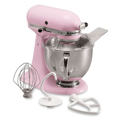 KitchenAid KSM150PSPK 10 Speed Stand Mixer w/ 5 qt Stainless Bowl & Accessories, Komen Pink