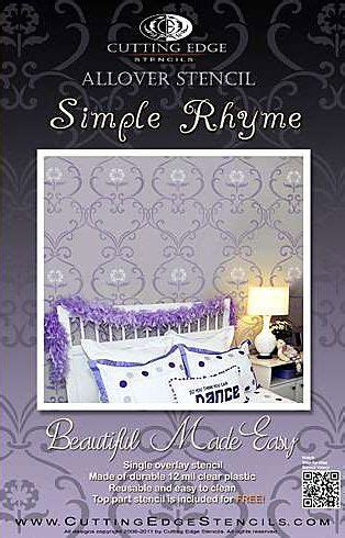 simple quatrain pattern 7 best images about simple rhyme allover stencil on