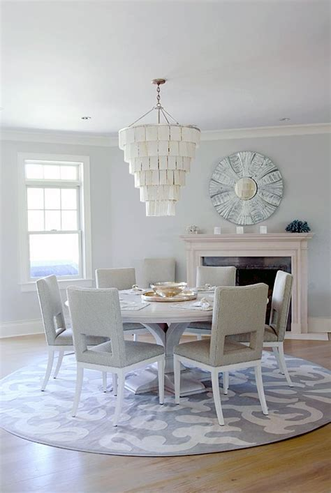 round rugs for dining room gray dining area with fireplace and round rug amagansett