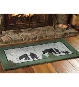 Hearth Rug Hooked Wool Three Bears Hearth Rug Hearth Rugs